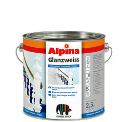 Эмаль алкидная унив. Alpina Glanzweiss глянцевая белая (2, 5л)